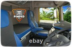 TRUCK SEAT COVERS Blue DAF 105/106/CF FROM 2012YEAR EURO6 ECO LEATHER