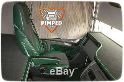 TRUCK SEAT COVERS Green DAF 105/106/CF FROM 2012YEAR EURO6 ECO LEATHER