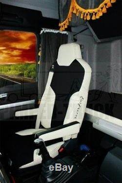 TRUCK SEAT COVERS MAN TGX/TGS Beige ECO LEATHER SEAT COVERS