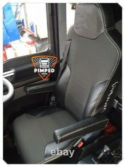 TRUCK SEAT COVERS MAN TGX/TGS Black ECO LEATHER SEAT COVERS