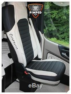 TRUCK SEAT COVERS MERCEDES Seats Covers For Mercedes Actros MP4 beige & black