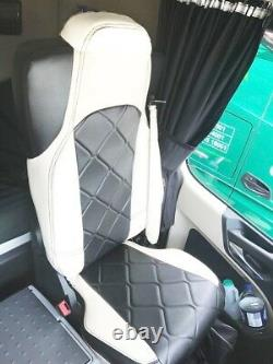 TRUCK SEAT COVERS MERCEDES Seats Covers For Mercedes Actros MP4 white & black