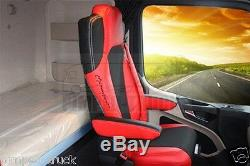 TRUCK SEAT COVERS MERCEDES Set Of Seats Covers For Mercedes Actros MP4 Red