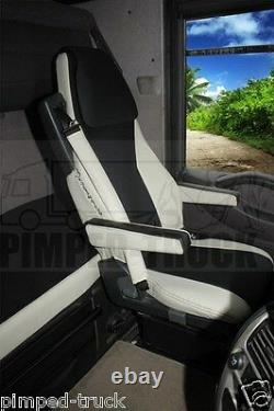 TRUCK SEAT COVERS RENAULT MAGNUM 2002-2008 Beige ECO LEATHER SEAT COVERS