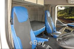 TRUCK SEAT COVERS RENAULT PREMIUM Blue ECO LEATHER SEAT COVERS