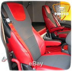 TRUCK SEAT COVERS Red DAF 105/106/CF FROM 2012YEAR EURO6 ECO LEATHER
