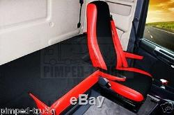TRUCK SEAT COVERS Red SCANIA R/G/P 05-2013 ECO LEATHER 2 the same seats