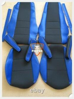 TRUCK SEAT COVERS VOLVO FH/FM 02-13 Blue ECO LEATHER SEAT COVERS