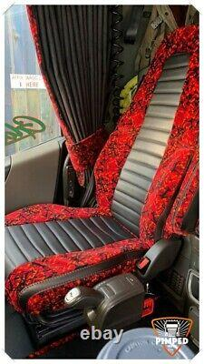 TRUCK SEAT COVERS VOLVO FH4 ECO LEATHER SEAT COVERS with DUTCH PLUSH