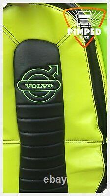 TRUCK SEAT COVERS VOLVO FH4 Lime Green&Black ECO LEATHER SEAT COVERS