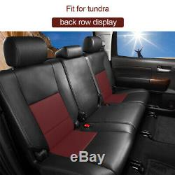 Truck Car Seat Covers Fit for Toyota TUNDRA 2007-2019 Cushion 5-Seat Burgundy