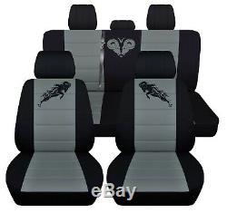 Truck Seat Covers 2004 Dodge Ram 40-20-40 Front 40-60 Rear Black Steel Grey