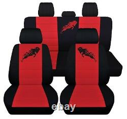 Truck Seat Covers 2006 Dodge Ram Front Seat Black Red Front and Rear ABF