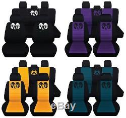 Truck Seat Covers 2009-2011 Dodge Ram Full Set Black with 23 Color Choices ABF