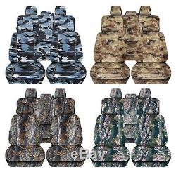 Truck Seat Covers 2011-2014 Ford F150 Camouflage Design Custom Fit Front Rear