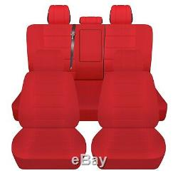 Truck Seat Covers 2019 Dodge Ram 1500 Red Front Rear Seats Custom Fit ABF