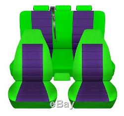 Truck Seat Covers Fits 2003 Ford Sport Trac Lime Green Purple Personalized Fit