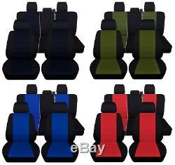 Truck Seat Covers Fits 2011-2014 Ford F150 Custom Design Black Set ABF