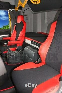 Truck Seat Covers Man Tgx/tgs Red Eco Leather Seat Covers