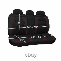 Ultra Comfort High Grade Leather Seat Covers For Car Truck SUV Van Rear Set